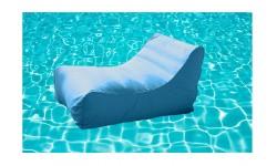 Sillón hinchable piscina Kiwi turquesa.