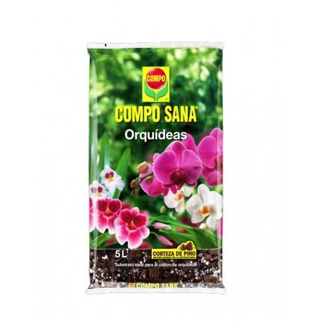 Sustrato para orquídeas Compo Sana 5L.