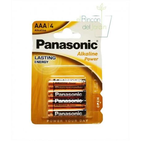Pilas alcalinas larga duración Panasonic.