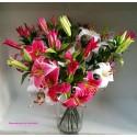 Vara Lilium flor artificial.