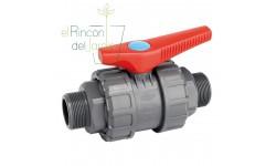 Válvula esfera desmontable R/Macho PVC