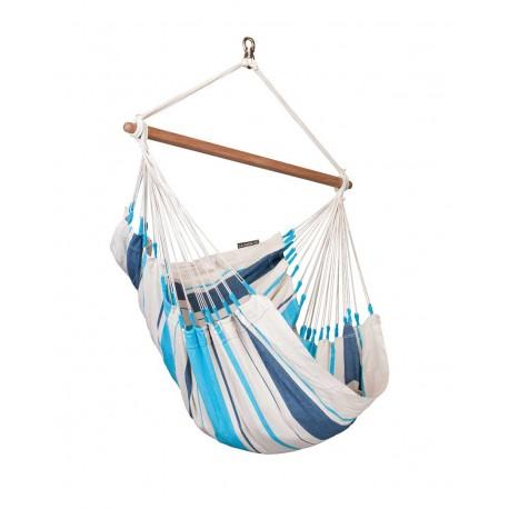 """Silla colgante basic de algodón """"Caribeña Aqua Blue """""""