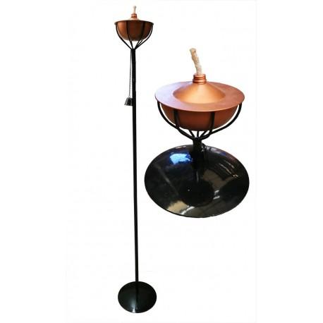 Antorcha de acero y cobre