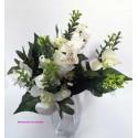 Bouquet de rosas y orquideas, flor artificial.