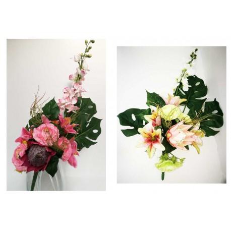Bouquet frontal. Flor artificial.