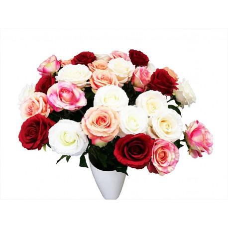Rosa, flor artificial.