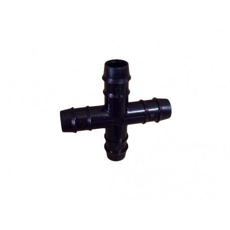 Conexión goteo en cruz ø16 mm.