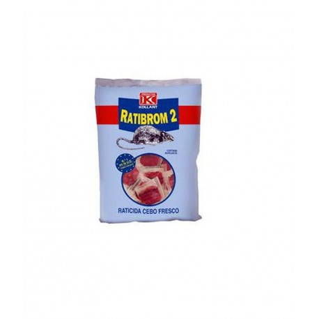 Ratibrom 2. Raticida cebo fresco 500 g.