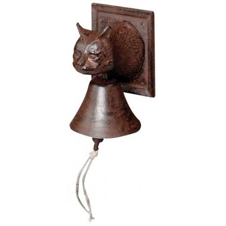 Campana de forja con cabeza de gato.