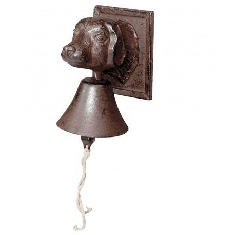 Campana de forja con cabeza de perro.