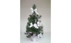 Árbol de navidad decorado.