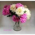 Ramo de crisantemos flor artificial