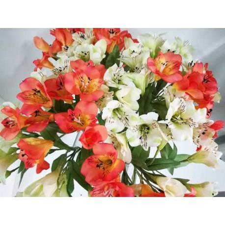 Vara Alstromenias flor artificial.