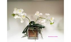 Orquídea Vanda flor artificial.
