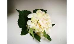 Rama hortensia blanca 39 cm. Flor artificial.