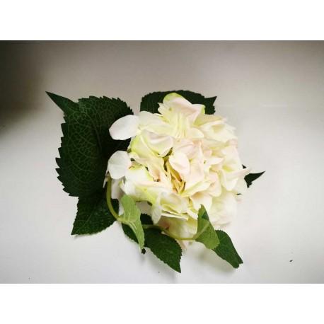 Rama hortensia blanca 39 cm.